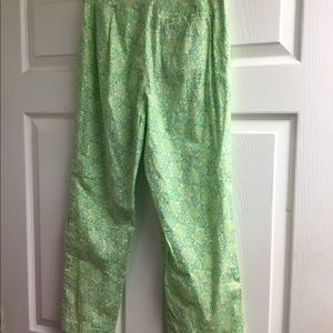 Tibi Pants - Tibi green pattern cotton pants size 6